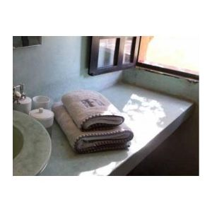 Harmony Milla - Drap de bain brodé en coton (90 x 140 cm)