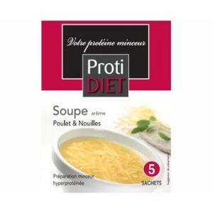 Proti Diet Potage arôme poulet nouilles, 5 sachets