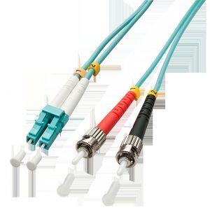 Lindy 46381 - Câble Ethernet Fibre optique Duplex LC/ST OM3 2 m Bleu