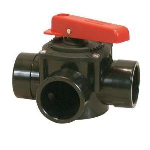 Procopi 1413063 - Vanne 3 voies manuelle à coller en 63 mm
