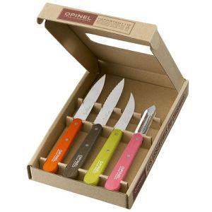 Opinel Coffret de 4 couteaux de cuisine avec manches couleurs