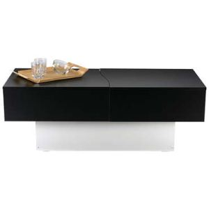 Table basse City Box avec plateau coulissant