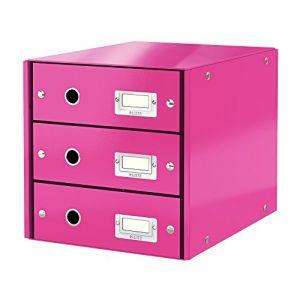 Leitz Bloc de classement à tiroirs Click & Store Rose