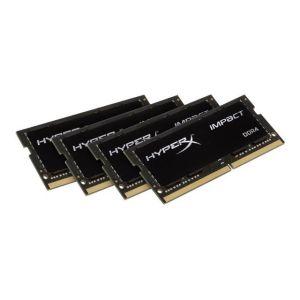 Kingston HX424S15IBK4/64 - Barrette mémoire HyperX Impact DDR4 64 Go (4 x 16 Go) SO DIMM 260 broches