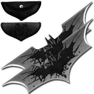2 Bat boomerang Batman shuriken de lancer en acier