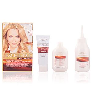 L'Oréal Excellence Age Perfect 8.31 Blond Doré - Crème colorante triple protection