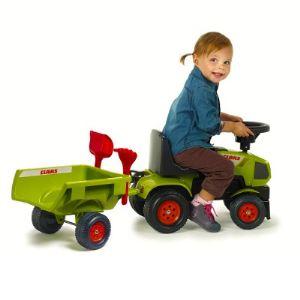 Falk / falquet Porteur tracteur Claas Axos 310 avec remorque et accessoires