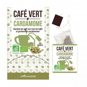 Aromandise Cafe vert cardamome - Boîte de  20 sachets
