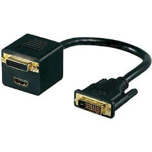 MicroConnect 68738 - Câble répartiteur DVI-D vers HDMI/DVI-D 0,15m