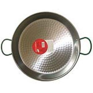 Vaello Campos S.L. 0138 - Plat à paëlla pour 8 personnes en acier poli (38 cm)