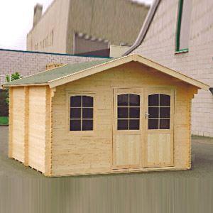 Decor et jardin 87555SZ00 - Abri de jardin en bois massif 44 mm 14,90 m2