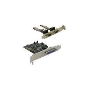 Delock 89129 - Carte contrôleur PCIe 2 ports série / 1 port paralléle