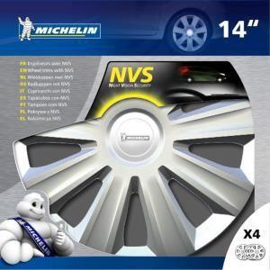 """Michelin NVS 34 - 4 enjoliveurs 14 pouces """"Night Vision Security"""""""