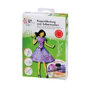 Marabu Kit créatif : Mes vêtements de poupée Shopping Girl