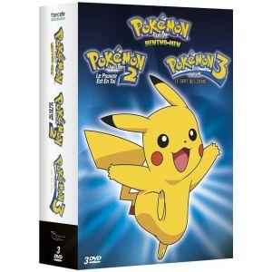 Coffret Pokemon : Les films 1 à 3 - Mewtwo contre Mew + Le pouvoir est en toi + Le sort des Zarbi