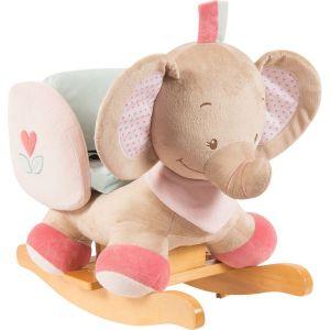 Nattou Bascule éléphant Rose