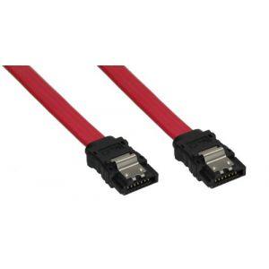 Inline 27703A - Câble SATA avec languette de sécurité 0,3m