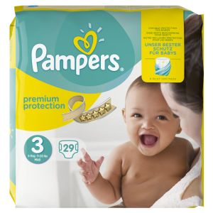 Pampers Premium Protection taille 3 Midi 5-9 kg - 29 couches