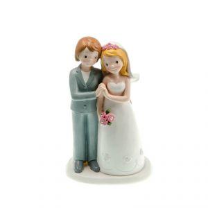 Chaks 80177 - Figurine en résine Couple de mariés Gay main dans la main Filles (17 cm)