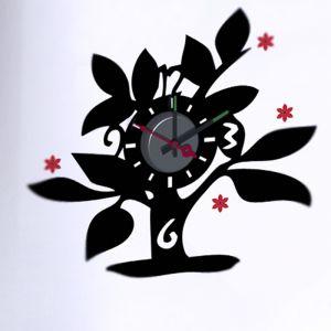 Horloge murale sticker Design arbre