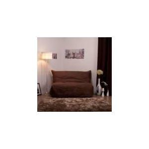 Comptoir des toiles Housse de bz suédine matelassée Lea (160 cm)