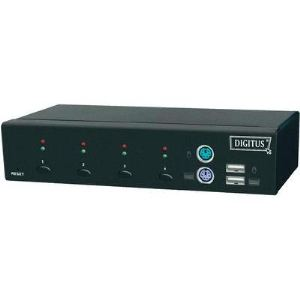 Digitus DC-12202-1 - Switch KVM USB PS/2 4 ports