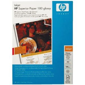 HP 50 feuilles de papier photo glacé 180 g/m² (A4)