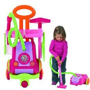 Ecoiffier Aspirateur et chariot de ménage