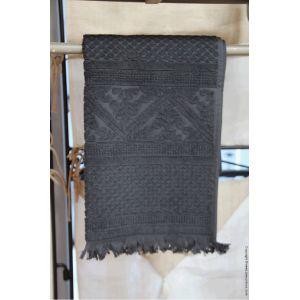 Vivaraise Zoe - Serviette de toilette 100% coton tissage jacquard (50 x 100 cm)