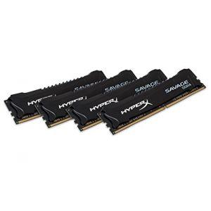 Kingston HX424C12SB2K4/16 - Barrette mémoire HyperX Fury Noir 16 Go (4x 4 Go) DDR4 2400 MHz CL12