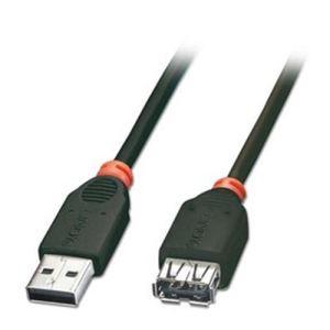 Lindy 31856 - Rallonge USB 2.0 type A m/f noir 3 m.