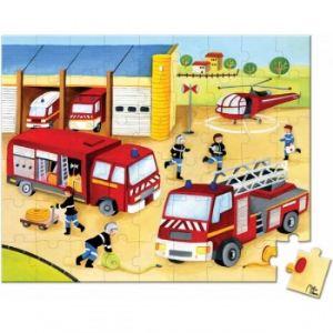 Janod Puzzle Lovely: Pompiers 54 pièces