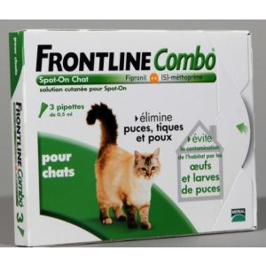 Frontline Combo Spot-On Chat - Soin antiparasitaire