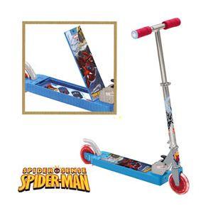 Mondo Patinette pliable alu 2 roues avec coffre Spiderman