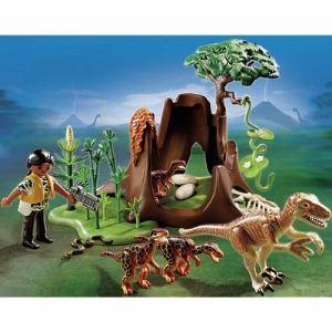 Playmobil 5233 Dinos - Deinonychus et Vélociraptors