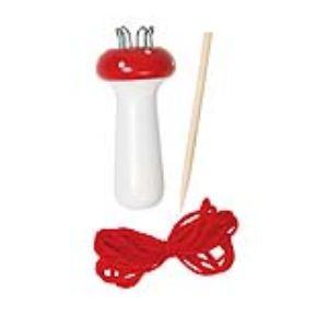 Toys Pure Champignon à tricoter avec aiguille en bois et fil