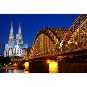Grafika Puzzle Cathédrale et Pont Hohenzollern de Cologne 12 pièces XXL