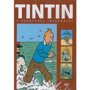 Coffret Tintin - Volume 3 : Le Secret de la Licorne + Le Trésor de Rackham le Rouge + Le Crabe aux pinces d'or