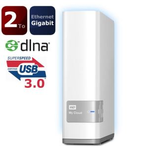 "Western Digital WDBCTL0020HWT - Disque dur externe My Cloud 2 To 3.5"" USB 3.0 Ethernet"