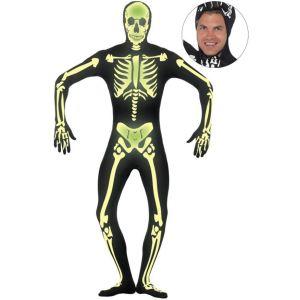 Déguisement squelette phosphorescent seconde peau