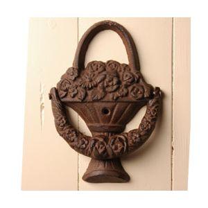 Esschert design LH49 - Heurtoir de porte Corbeille à fleurs en fonte
