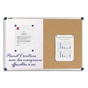 Nobo Tableau mixte affichage liège et surface laquée blanc (90 x 120 cm)