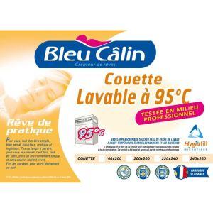 Bleu Câlin Couette lavable à 95°C (220 x 240 cm)