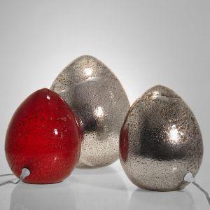 Crisbase Lampe à poser Oeuf Egg en verre