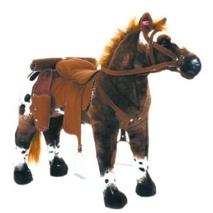 Happy People Peluche Cheval de Cowboy anglo arabe avec son charge maximale 100 kg