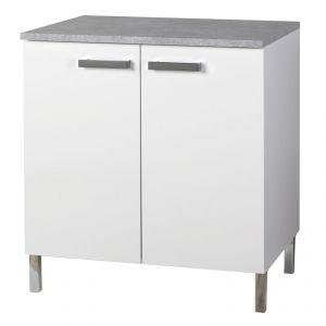 Donatella 5 - Meuble bas 80 cm avec 2 portes pour cuisine