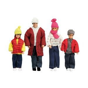 Lundby Famille de poupée Smaland en vêtements d'hiver