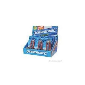 Silverline 658892 - Présentoir de 12 montures de 7 clés mâles 7 clés à 6 pans