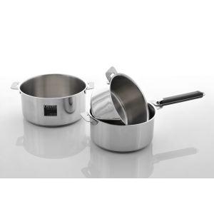 Cristel 3 casseroles amovible Linge Classique en inox 16/18/20 cm