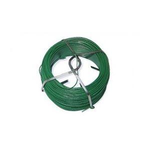 Hexoutils HX33069 - Rouleau de fil de fer galvanisé vert 50 m